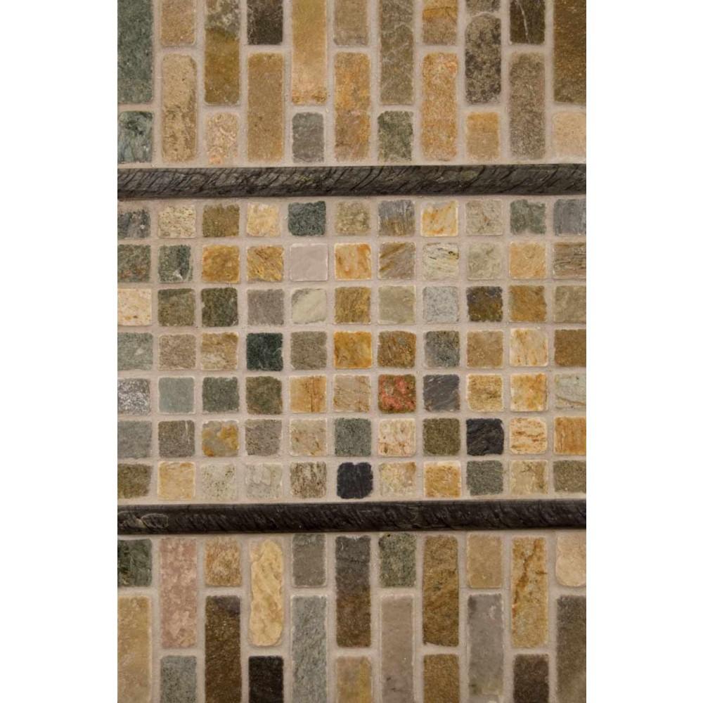 Golden White Brick Pattern 1x3 Tumbled