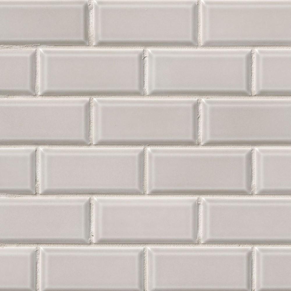 Gray Glossy 2x4 Bevel Porcelain Subway Tile