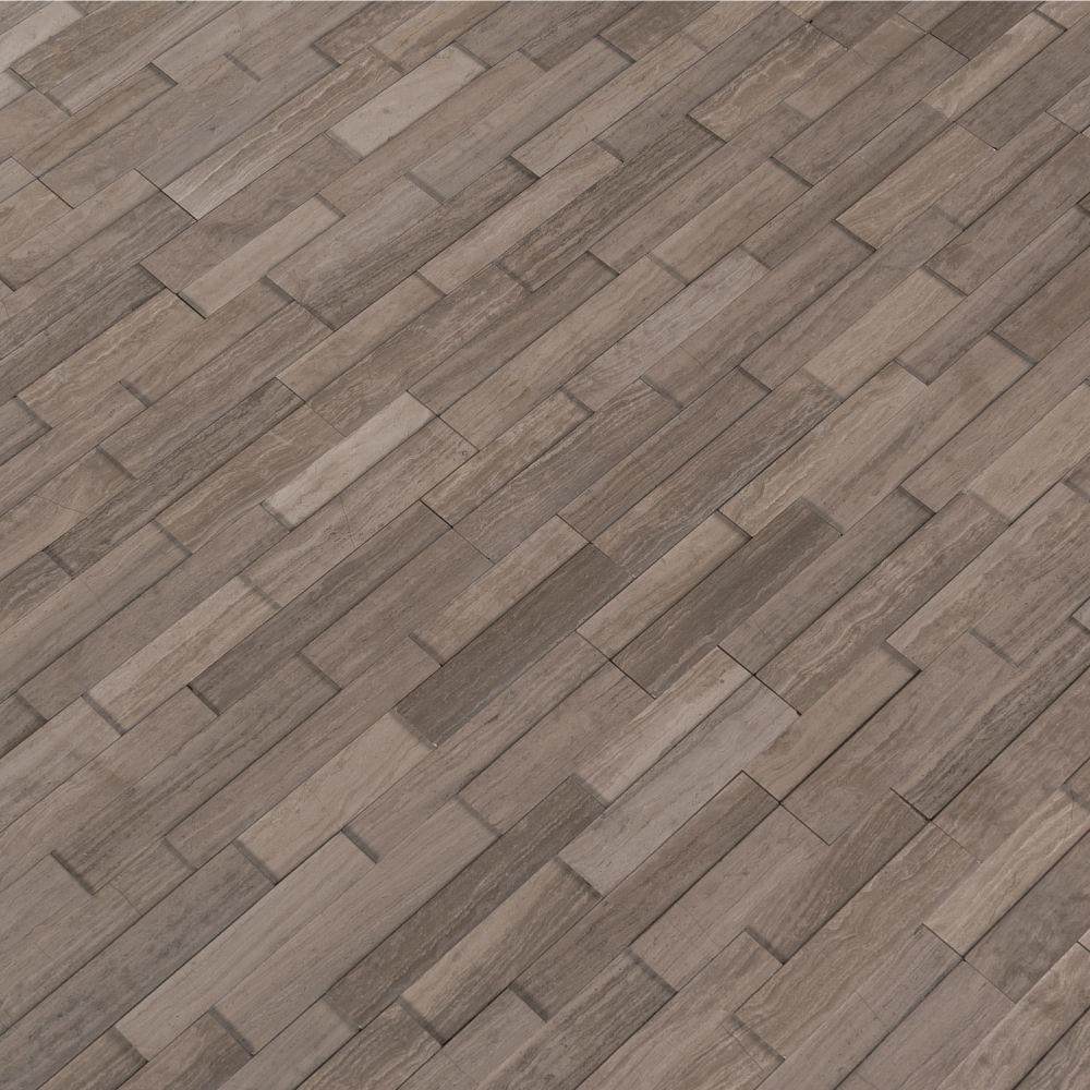 Gray Oak 4.5x16 3D Honed Mini Ledger Panel