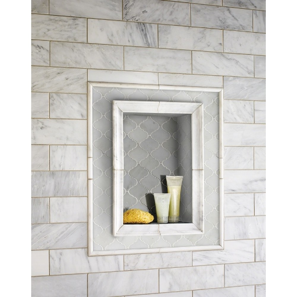 Greecian White Arabesque Polished Mosaic
