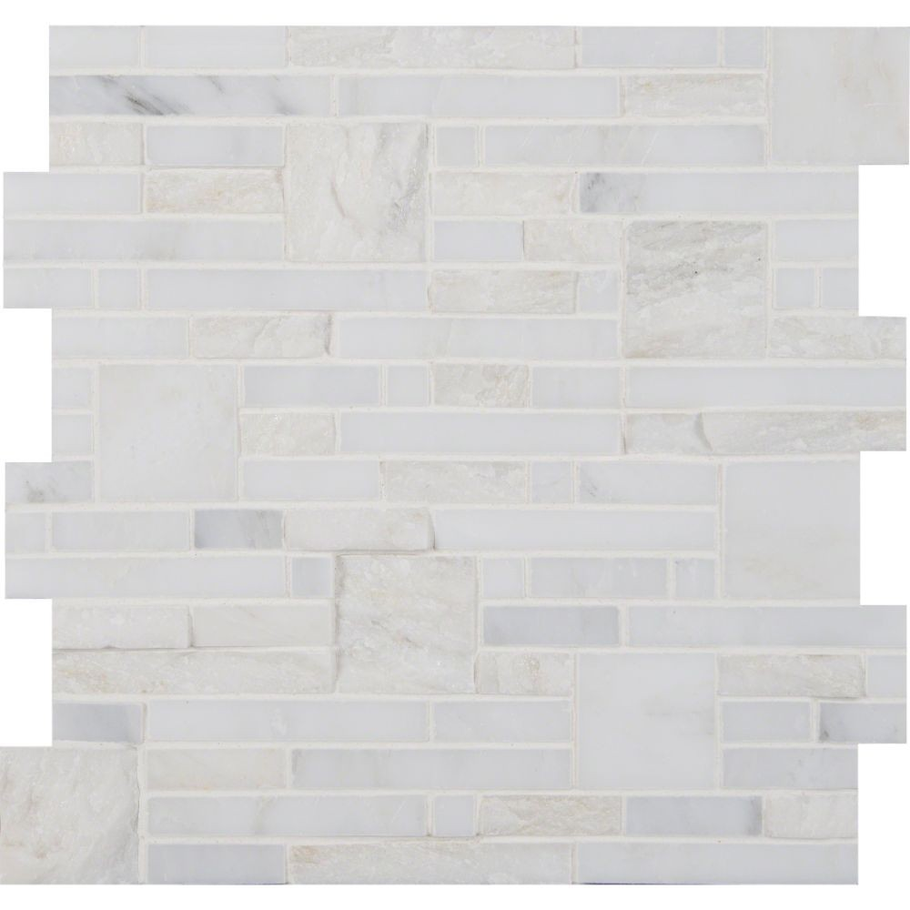 Greecian White Opus Pattern Mosaic