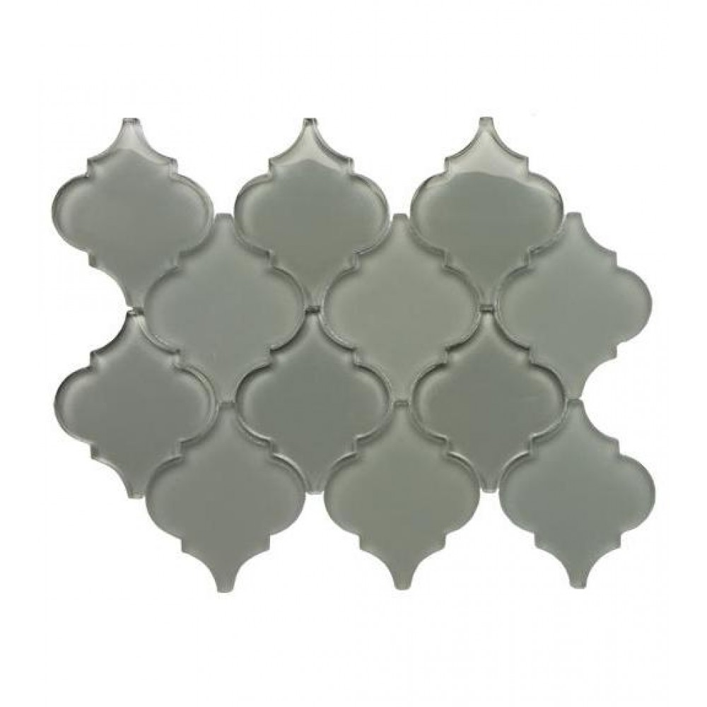 Grey Arabesque Glass Mosaic