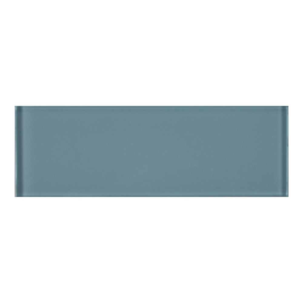 Harbor Gray Backsplash Glass Subway Tile 3x9