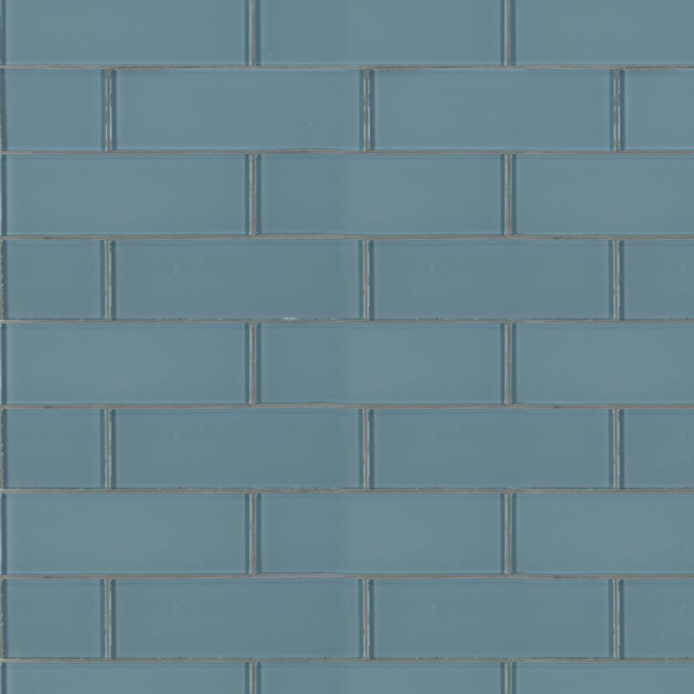 Harbor Gray 3x9 Backsplash Glass Subway Tile