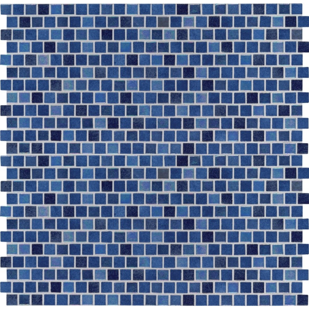 Hawaiian Blue 1x1 Staggered Glass Mosaic Backsplash Tile Usa
