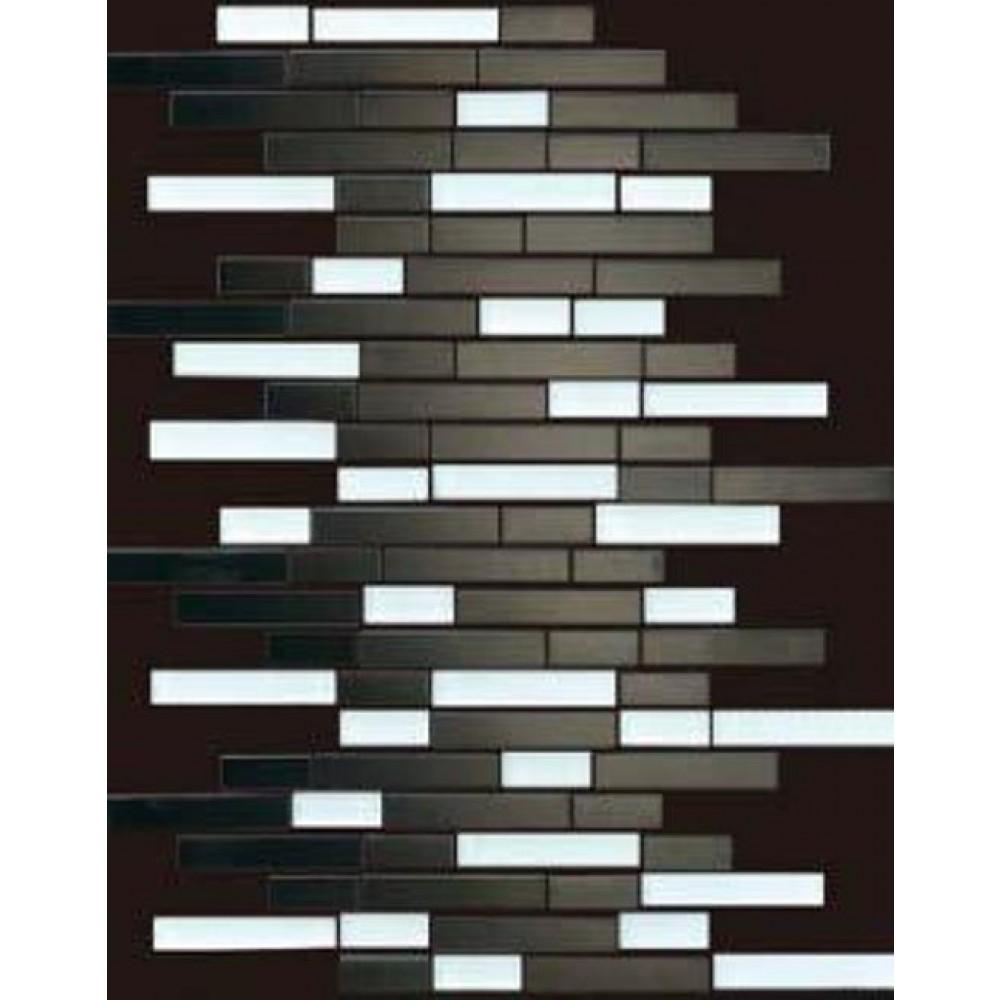 Silver Foil 12X12 Interlocking Mosaic