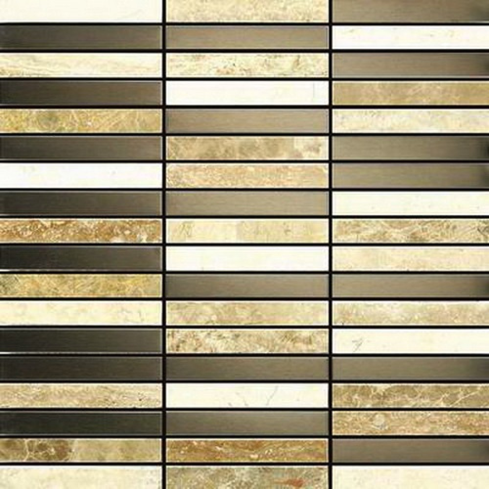 Odysey 12x12 Stainless Steel and Stone Blend
