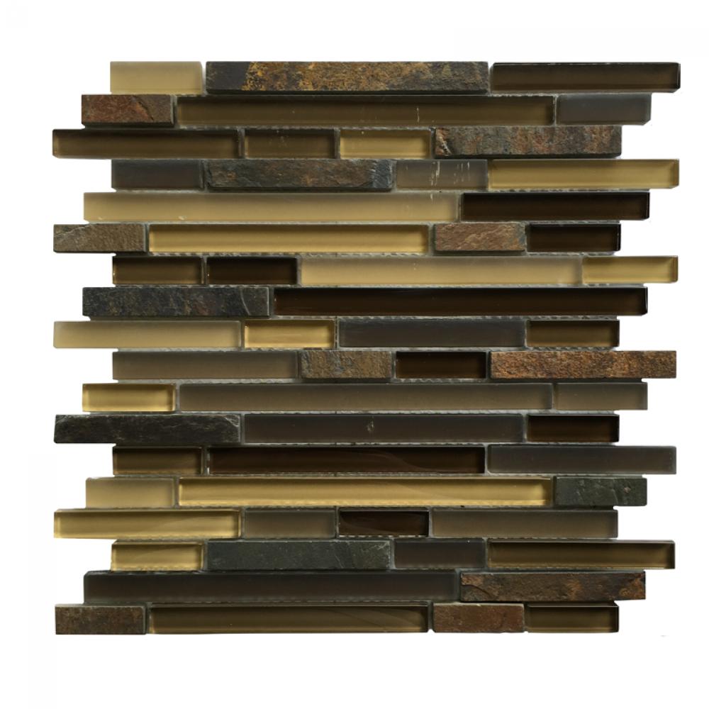 Hempsford 12x12 Interlocking Blend Mosaic