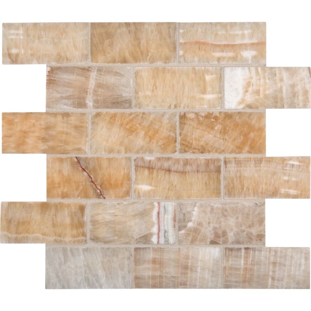 Honey Onyx 2x4 Polished Subway
