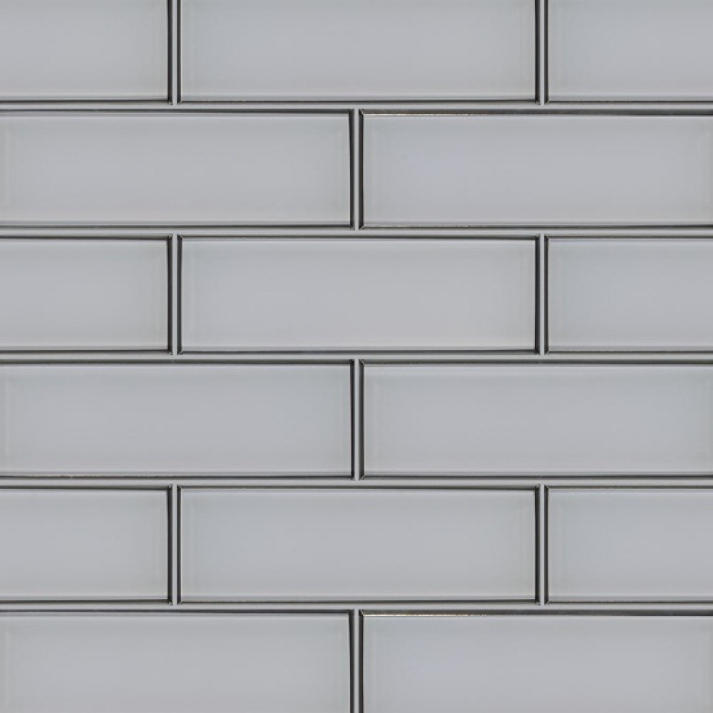Ice Bevel 4x12 Glossy Glass Subway Tile Backsplash Tile Usa