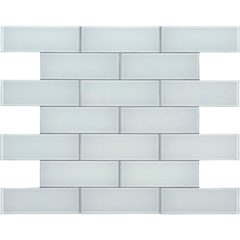 Ice Glass 3x9 Backsplash Subway Tile
