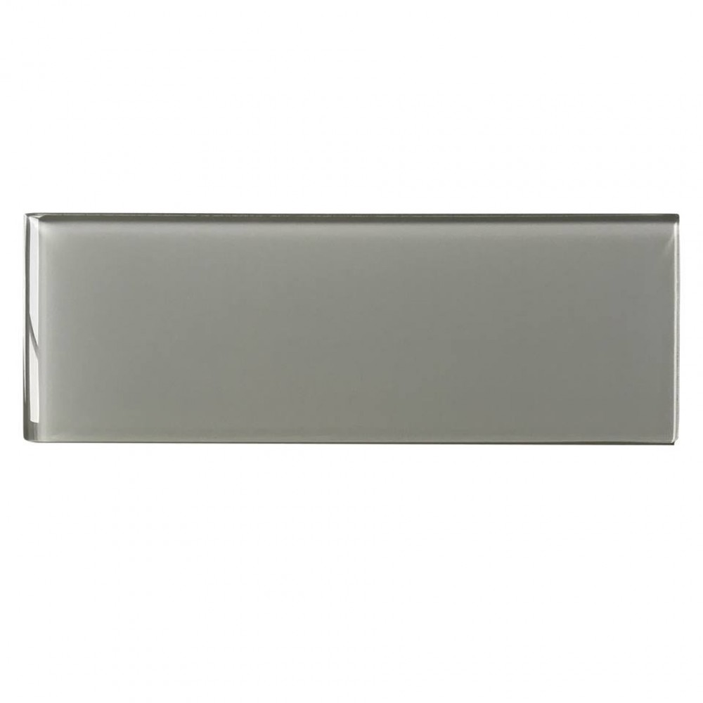 Ice Grey 4x12 Glossy Glass Subway Tile