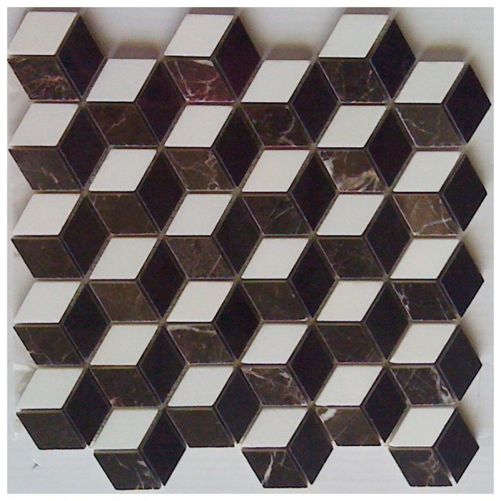 Illusion 3D Interlocking Polished Mosaic