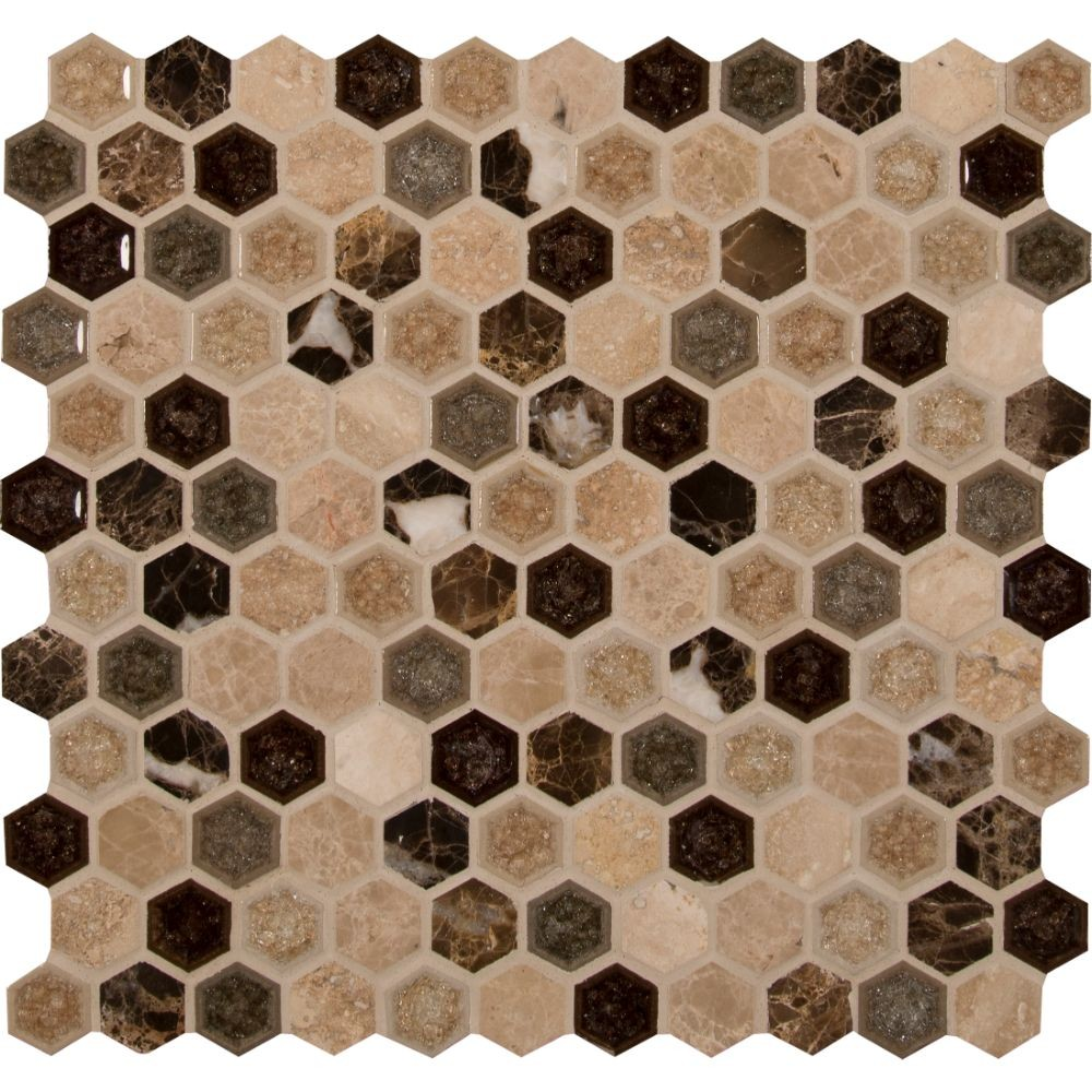 Kensington 1x1 Hexagon 8mm Mosaic