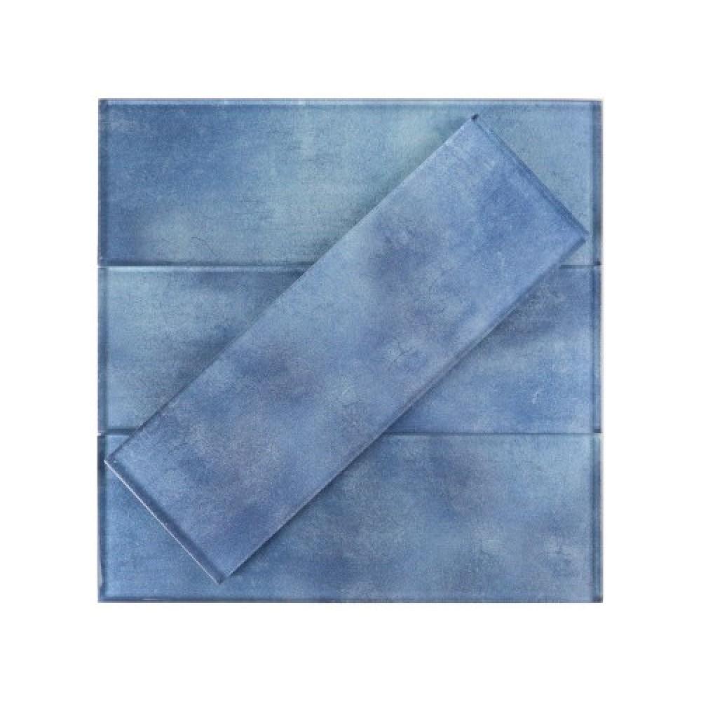 Medium Blue 3x9 Glass Subway Tile