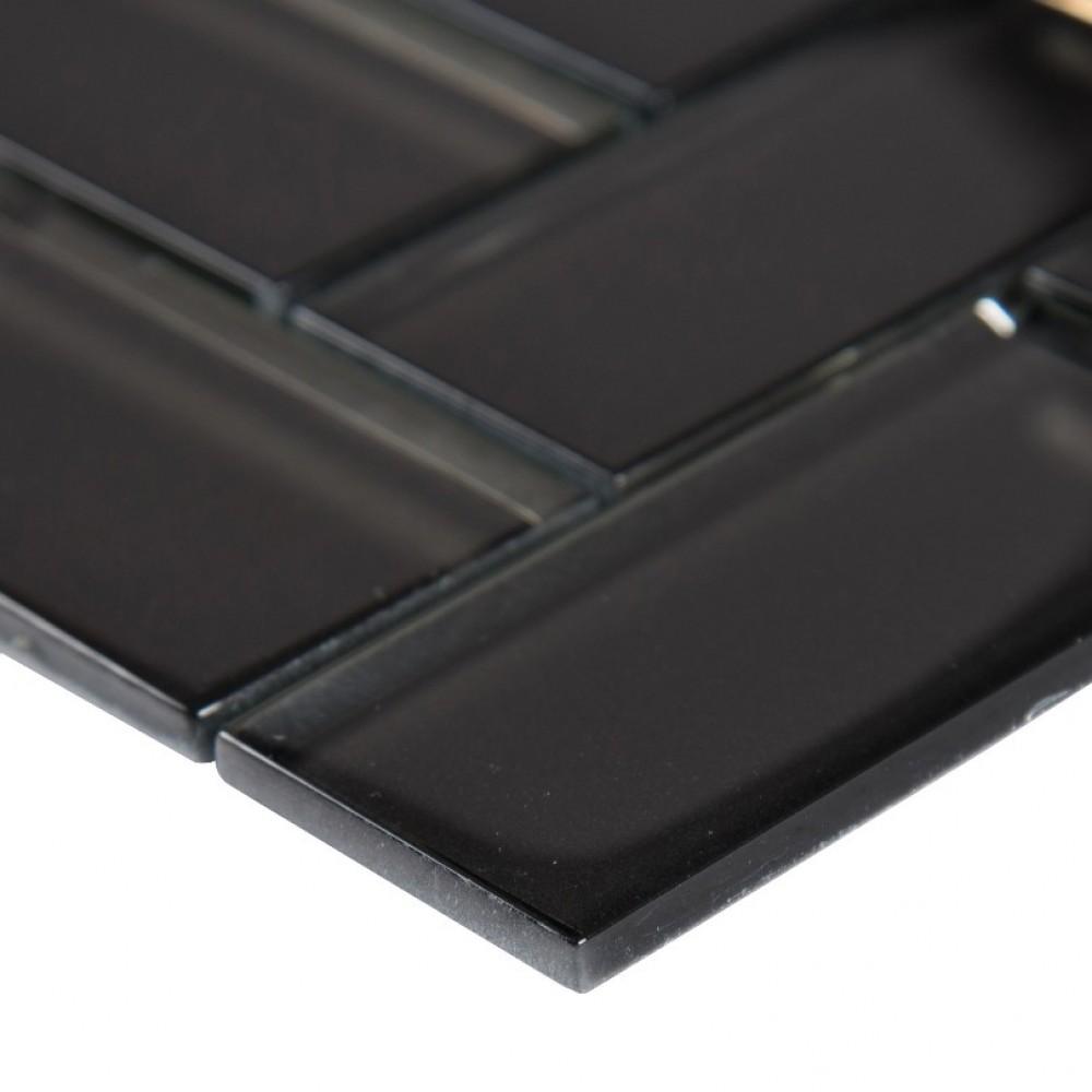 Metallic Gray 2x4x8 Herringbone Mosaic TIle