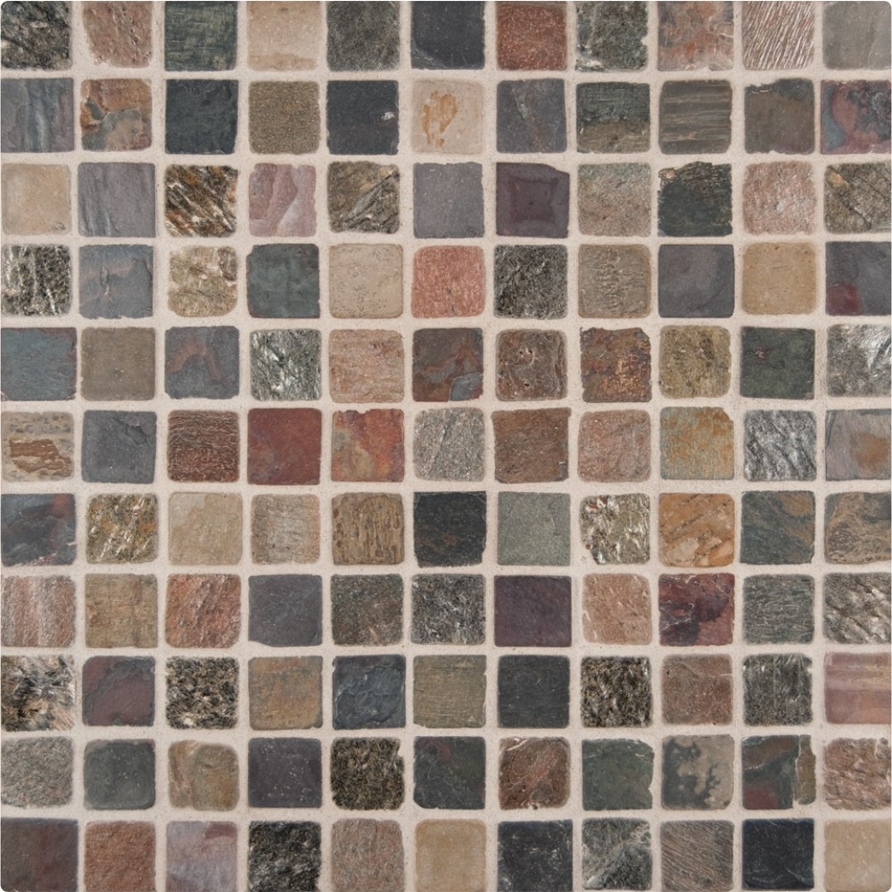 Mixed Slate 1X1 Tumbled