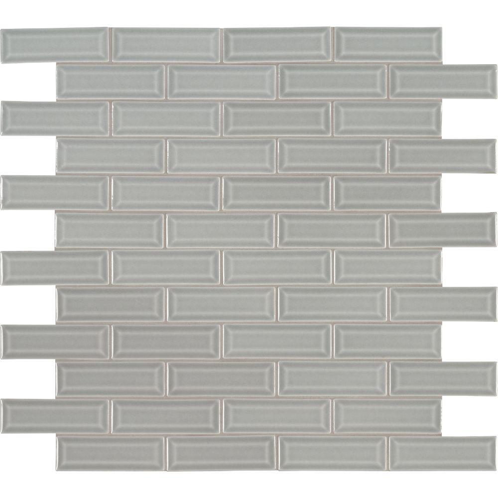 Morning Fog 2x6 Bevel Subway Ceramic Tile