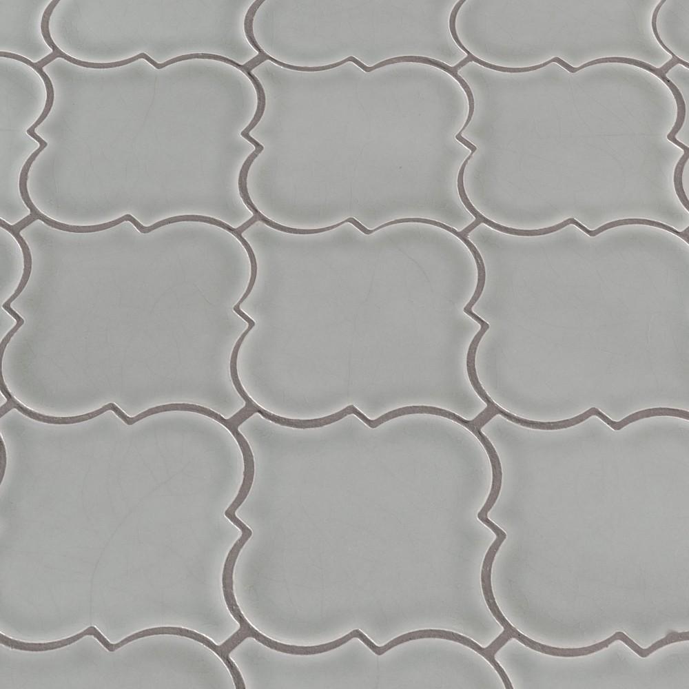 Morning Fog Arabesque Glossy Ceramic Tile