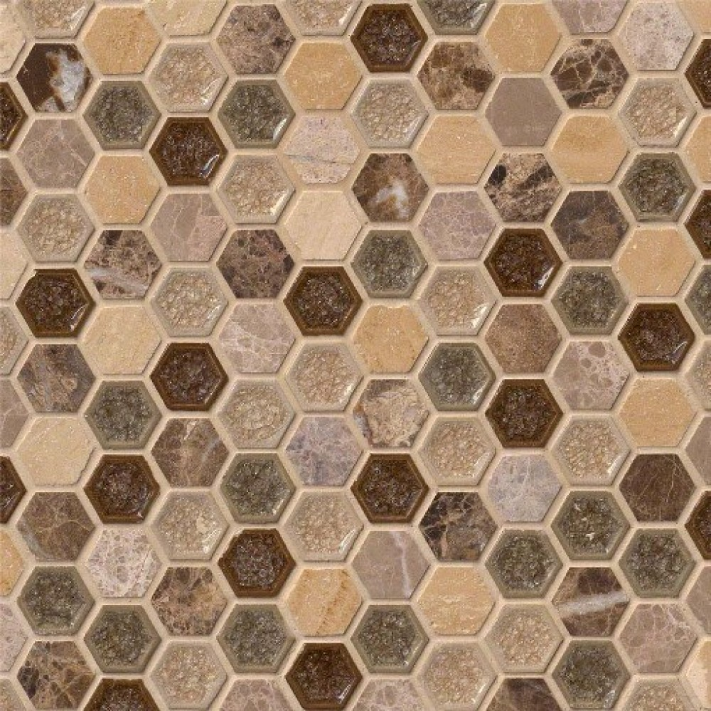 Kensington 1x1Hexagon 8mm Mosaic
