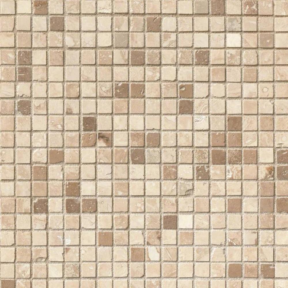 Noche Chiaro 5/8x5/8 Honed Travertine Mosaic