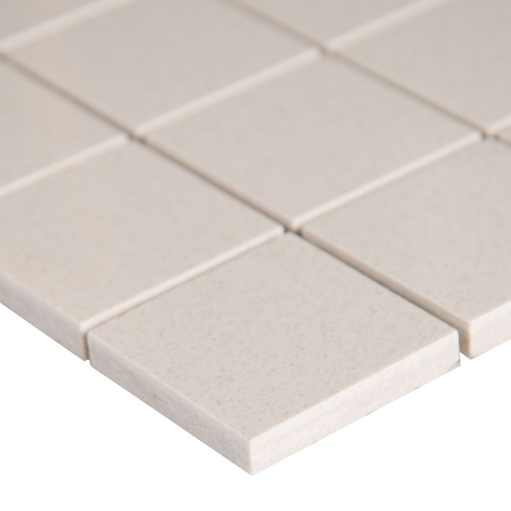 Optima Cream 2X2 Polished Ceramic Mosaic