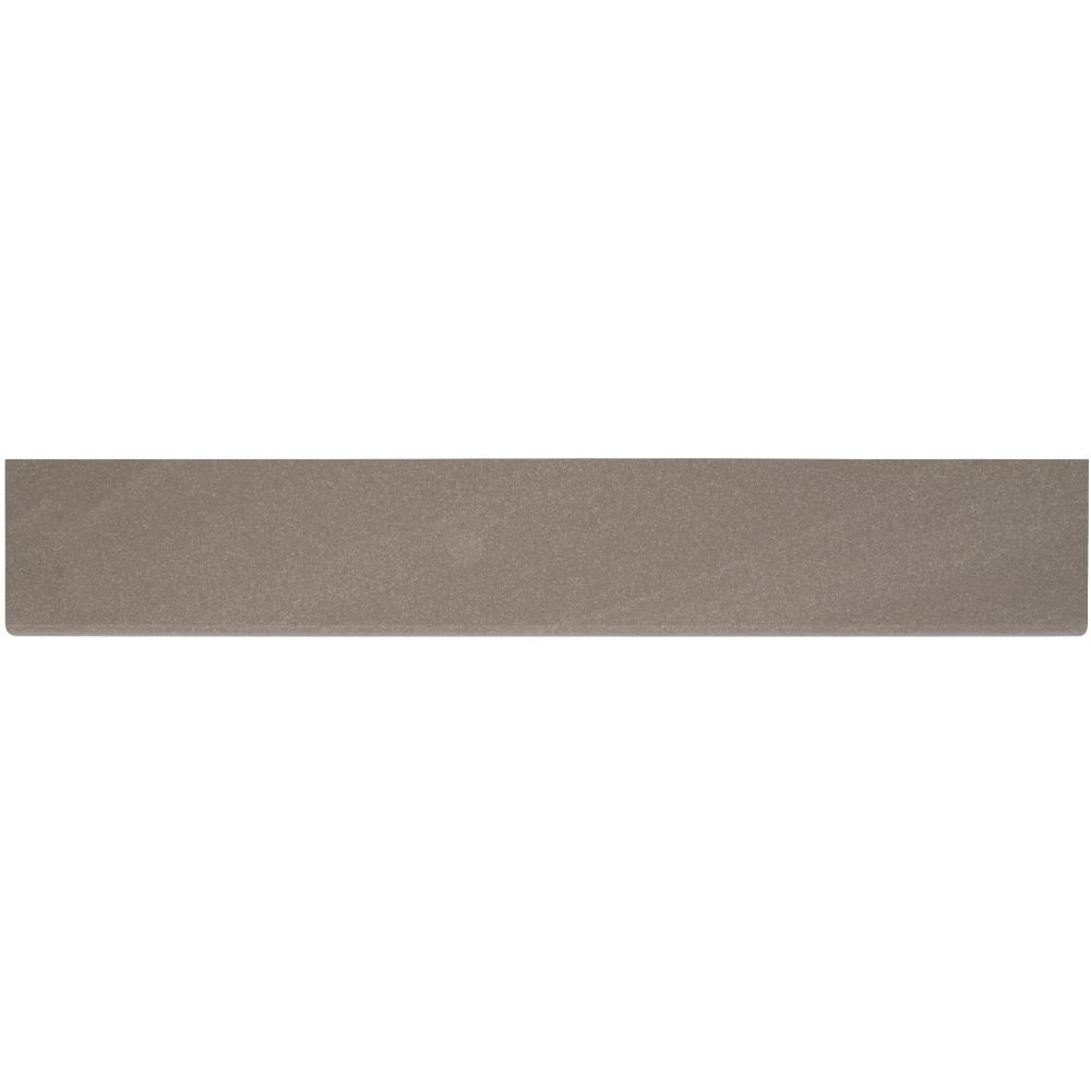Optima Olive Bullnose 4x24 Polished Porcelain Tile