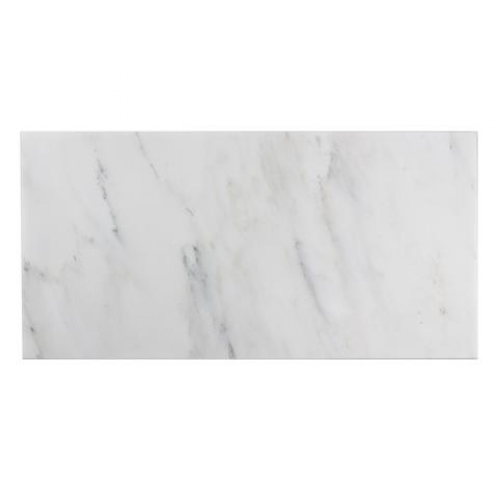 Oriental White 12x24 Brushed Marble Tile