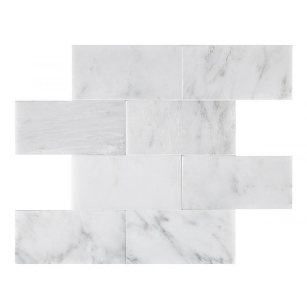 Oriental White Honed 3x6 Subway Tile