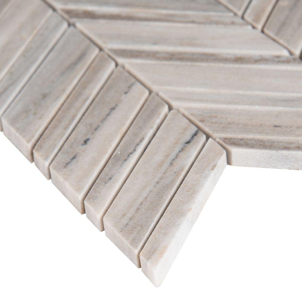 Palisandro Chevron 12x12 Polished Pattern Mosaic