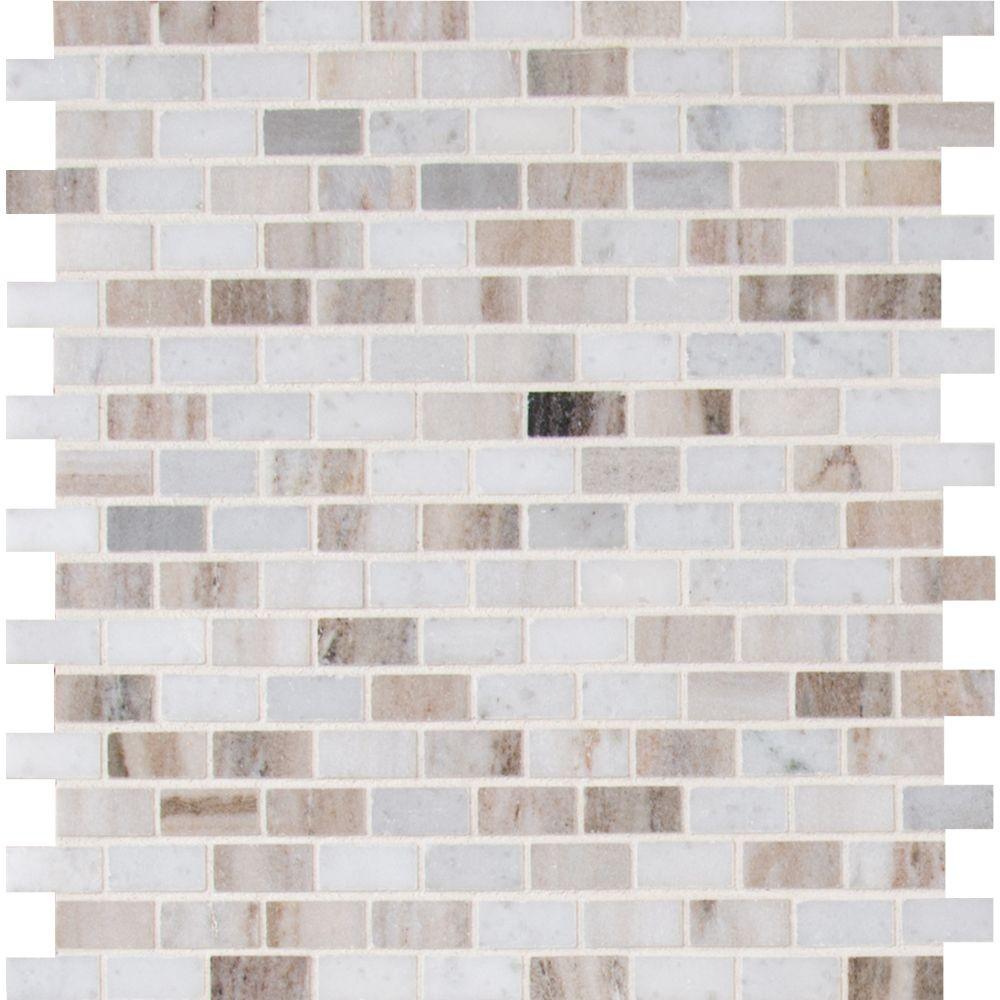 Palisandro Mini Brick Pattern Marble Mosaic