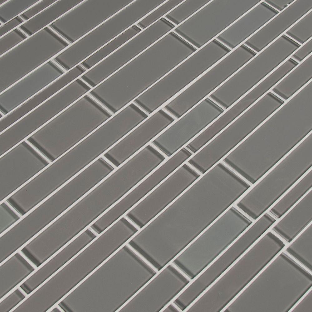 Pebble Interlocking Pattern 12x18 Crystallized Glass Mosaic