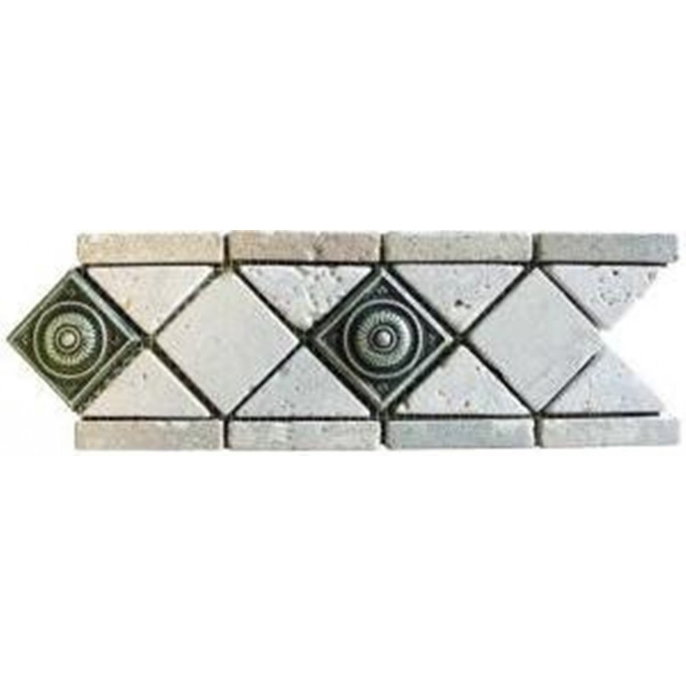 Pewter Metal Scudo 2x2 inches