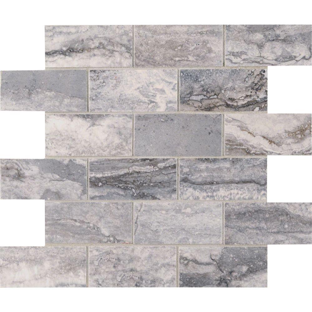 Pietra Bernini Carbone 2X4 Polished Mosaic