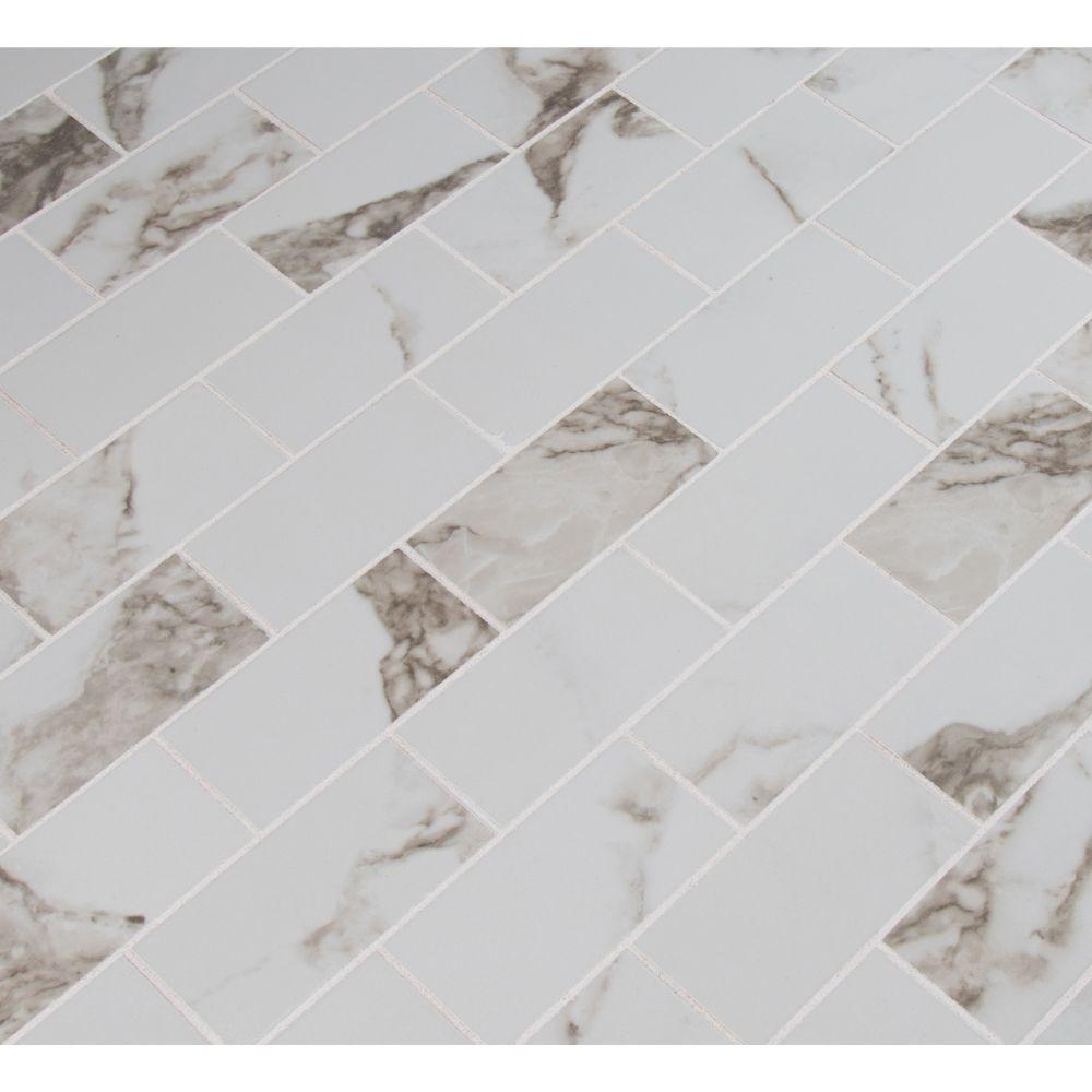 Pietra Statuario 2X4 Polished Mosaic