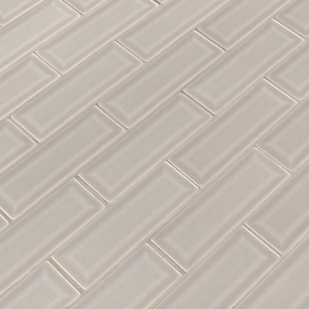 Portico Pearl 2x6 Bevel Subway Ceramic Tile