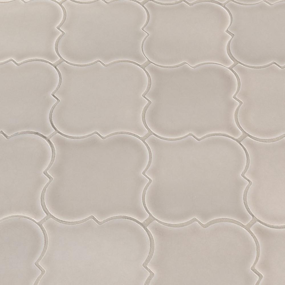 Portico Pearl Arabesque Glossy Ceramic Tile