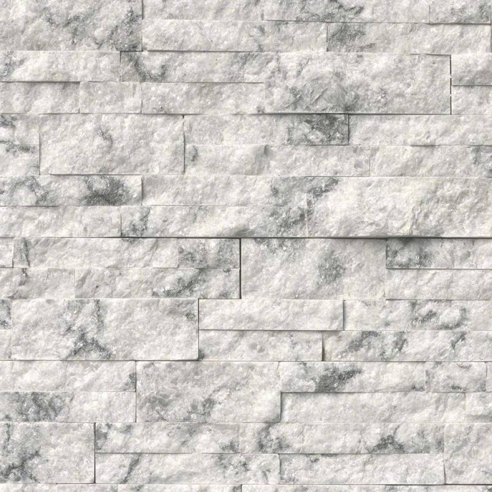 Princess White 6x18x6 Splitface Corner Ledger Panel