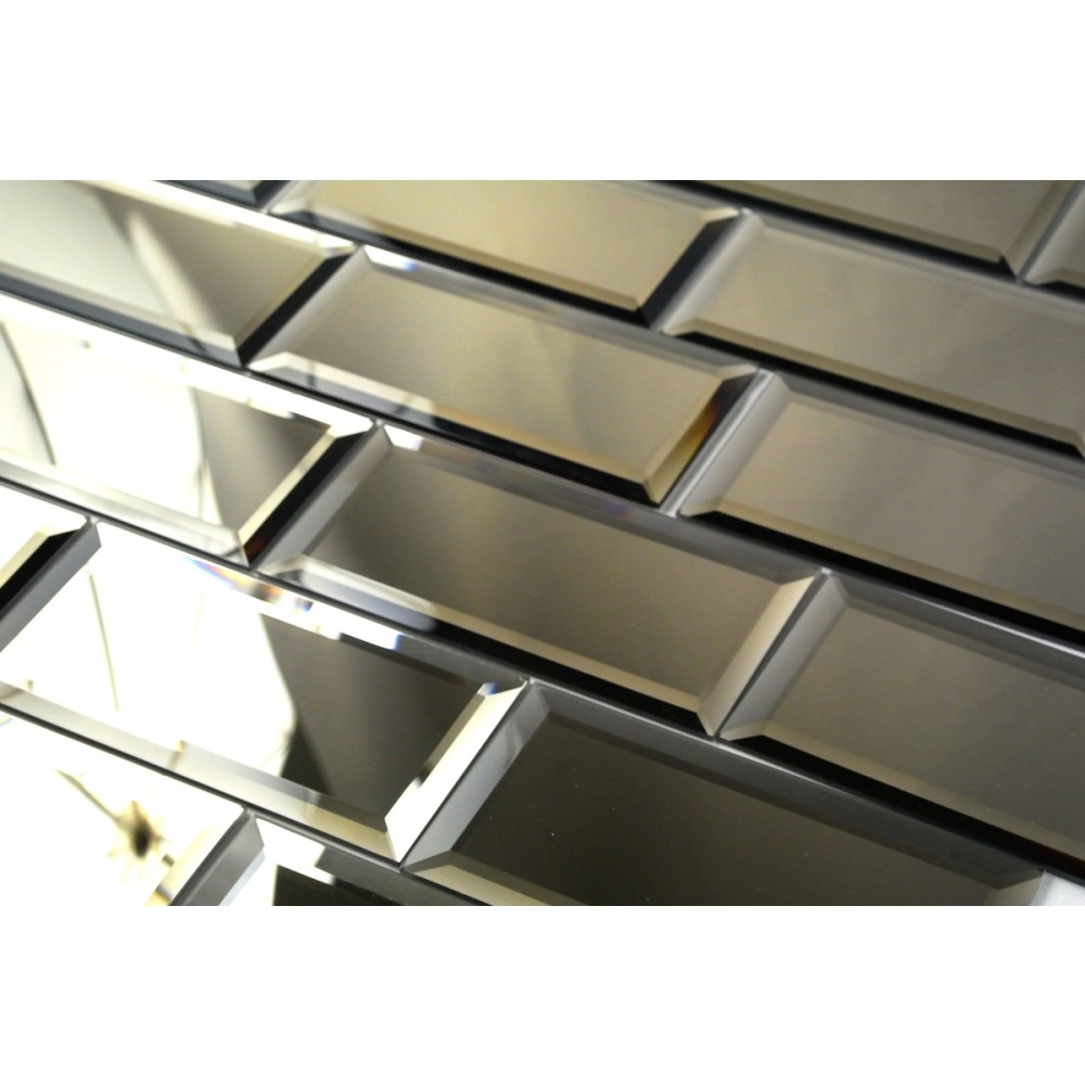Reflections Bronze 3X6 Polished Glass Tile