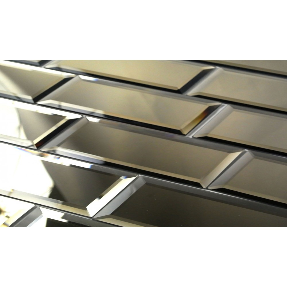Reflections Gold 3X12 Polished Glass Tile
