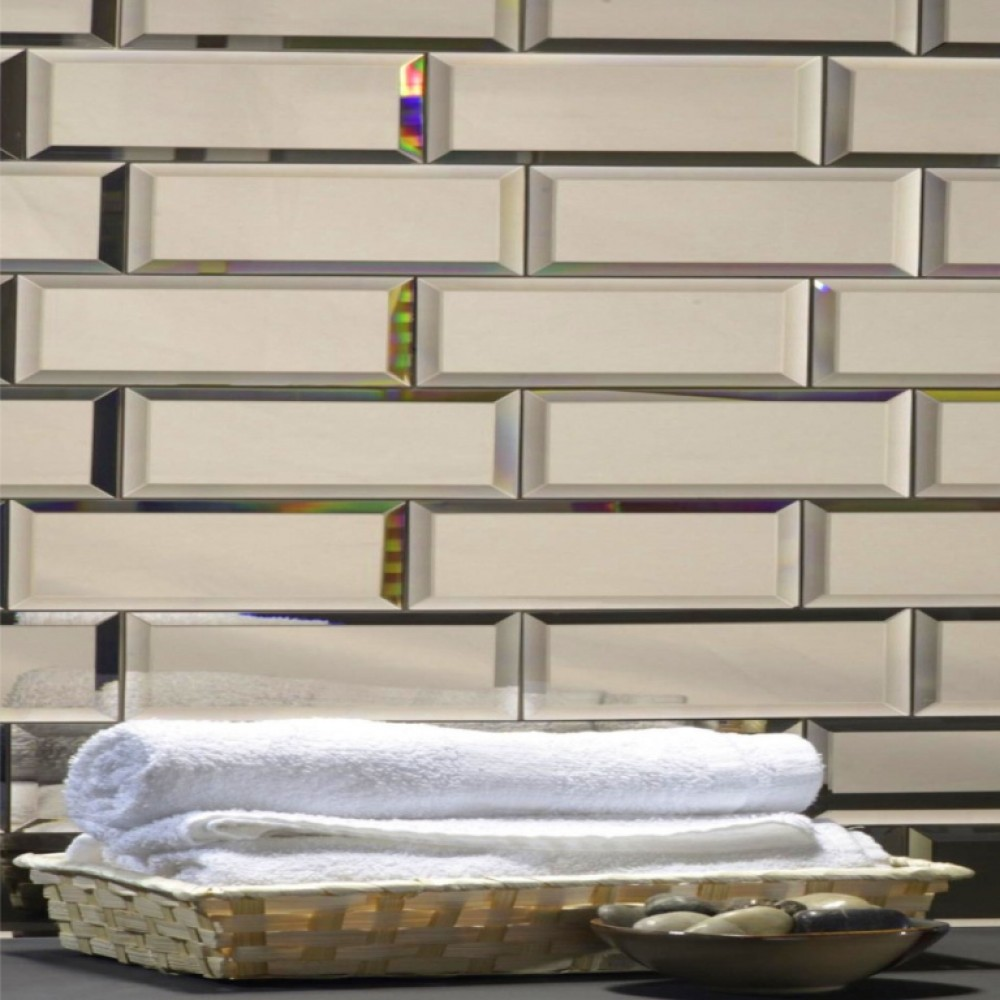 Reflections Gold 3X12 Polished Subway Glass Tile