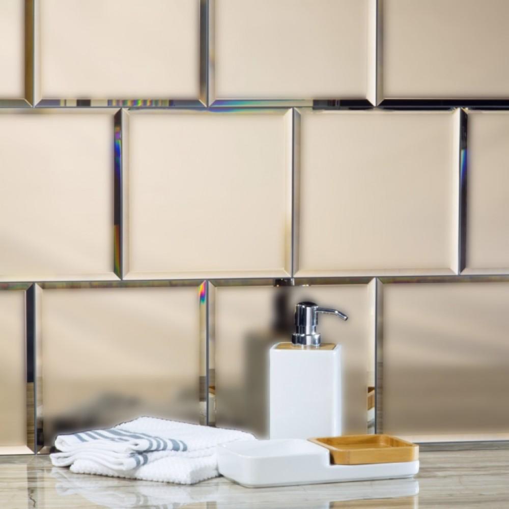 Reflections Gold 8X8 Matte Glass Tile