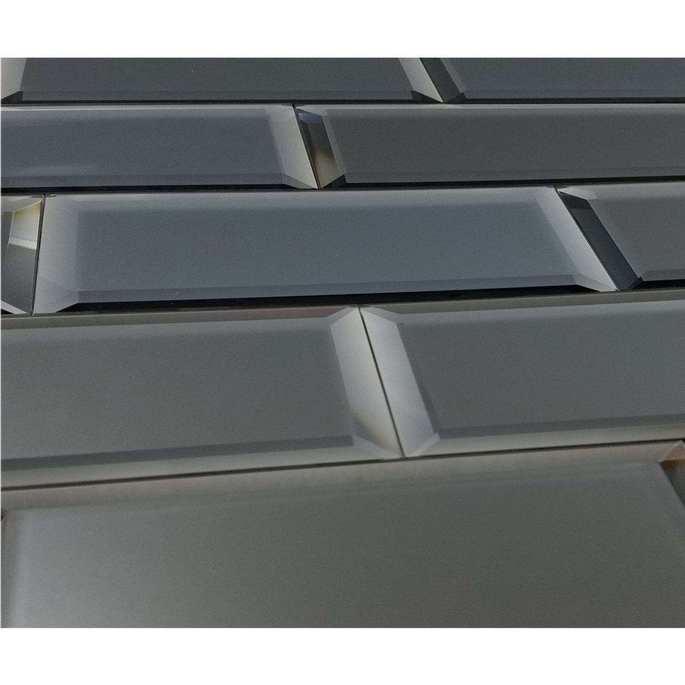 Reflections Graphite 3X12 Matte Glass Tile