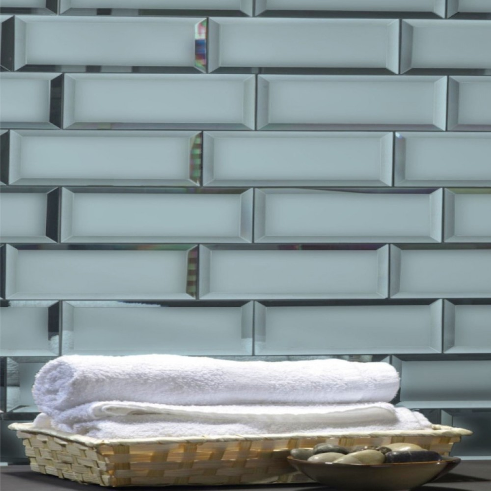 Reflections Graphite 3X12 Matte Glass Tile