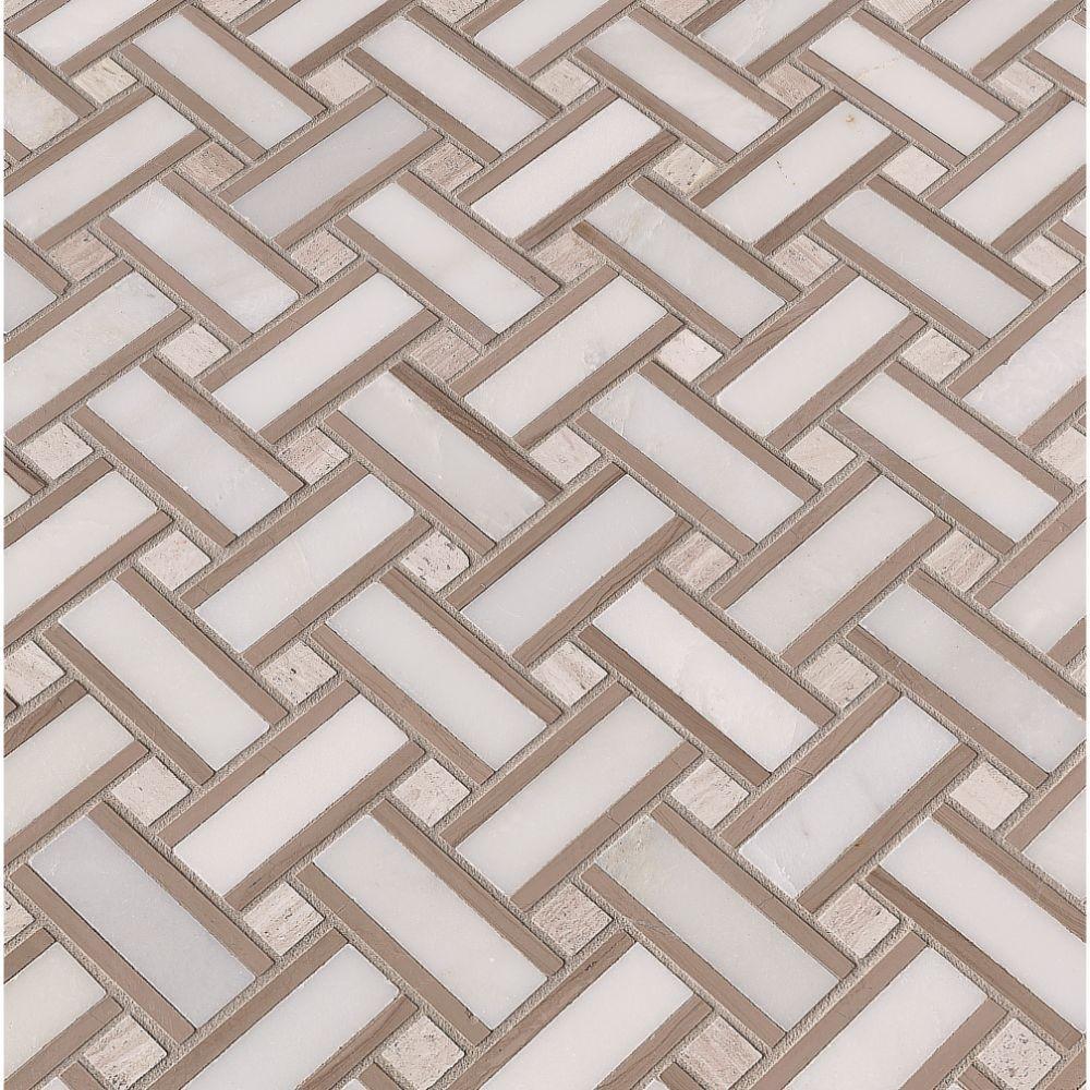 Renaissance Basketweave 12x12 Honed Mosaic