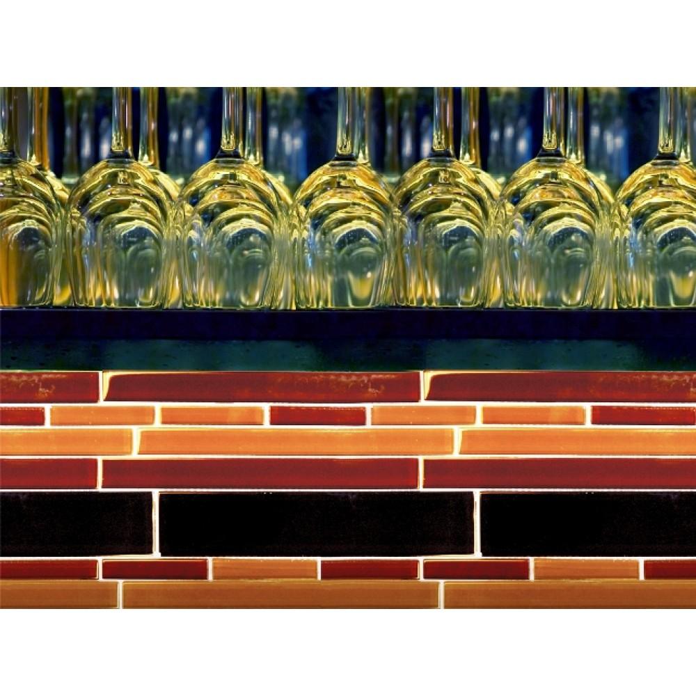 Brown Blend Interlocking Pattern Crystallized