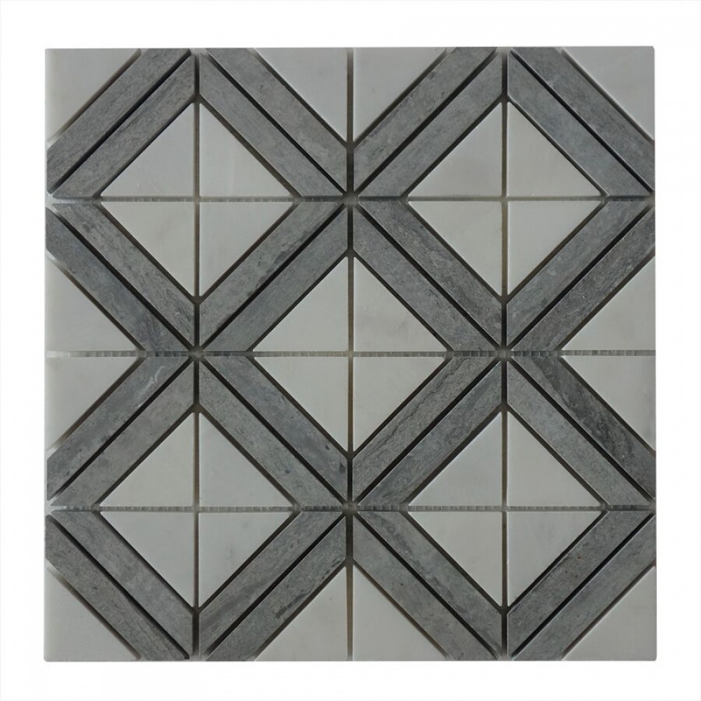 Rubik Square Pattern 12x12 Polished Mosaic
