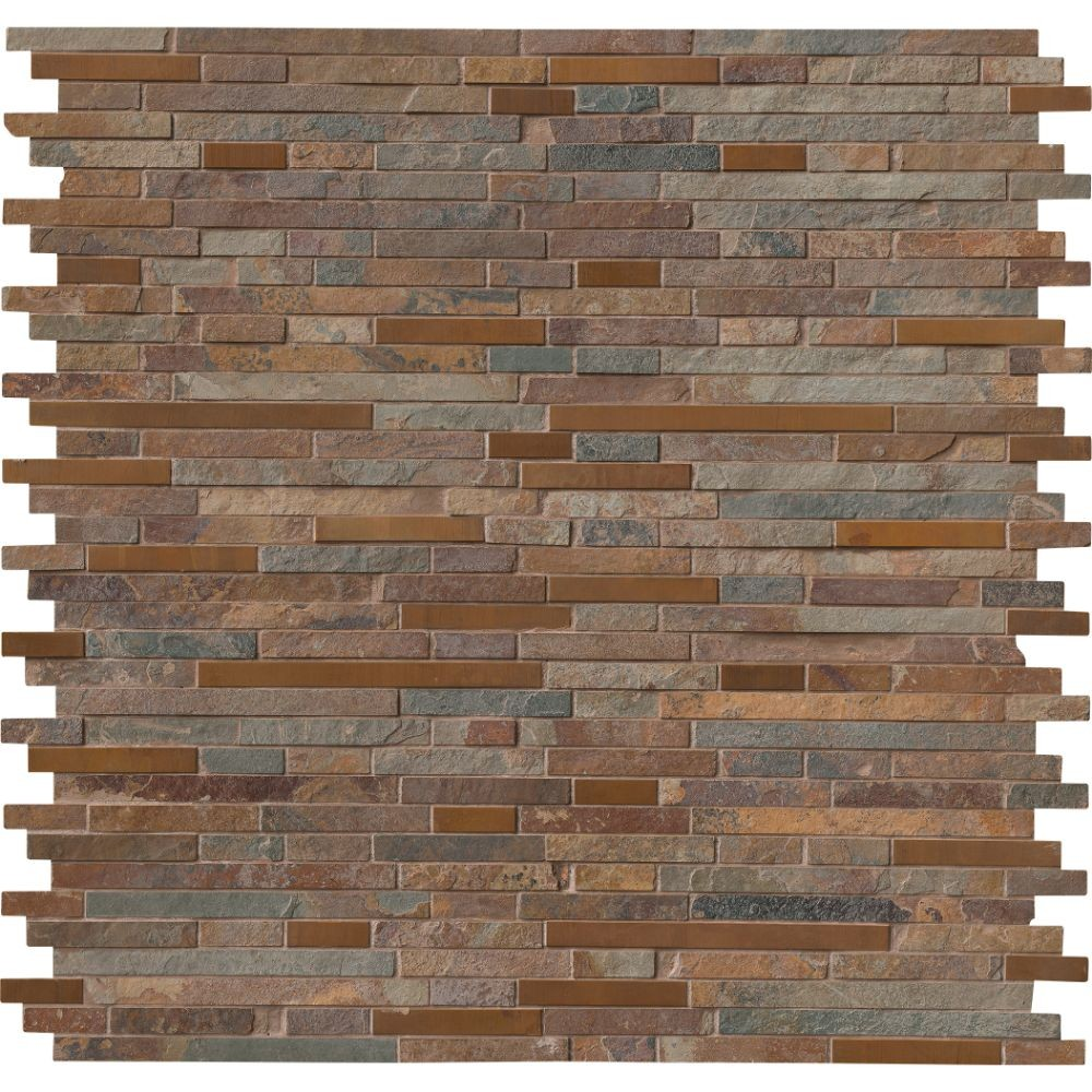 Rustic Creek Interlocking Backsplash Tile