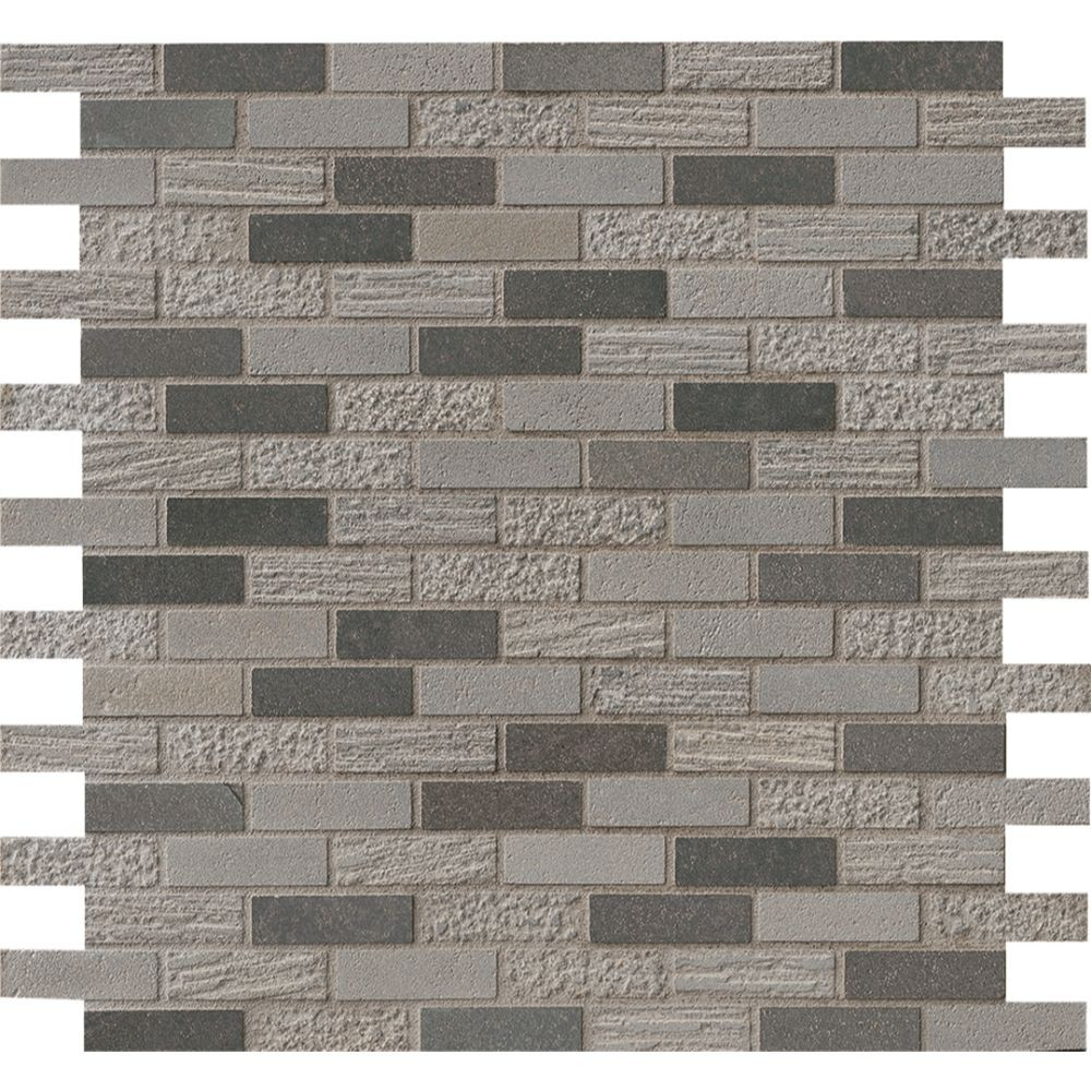 Shale 5/8x2 Mixed Finish Mosaic