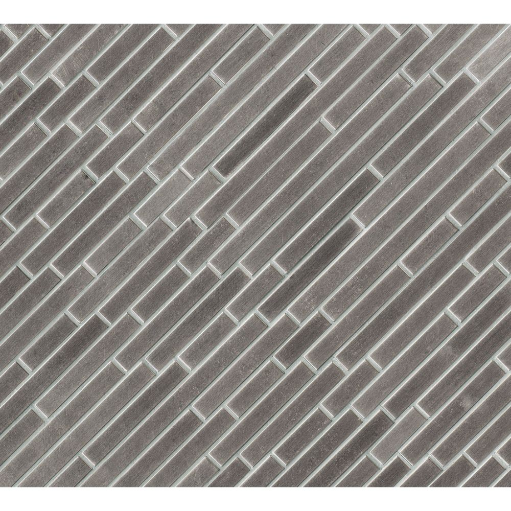 Silver Metal Interlocking Pattern Metal